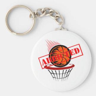 Adicto al baloncesto llavero redondo tipo pin