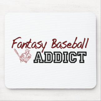 Adicto al béisbol de la fantasía tapetes de ratones
