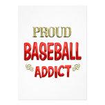 Adicto al béisbol invitación personalizada