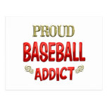 Adicto al béisbol tarjetas postales