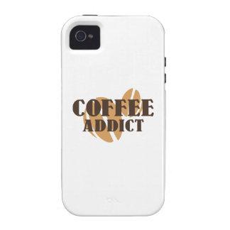 Adicto al café vibe iPhone 4 carcasa