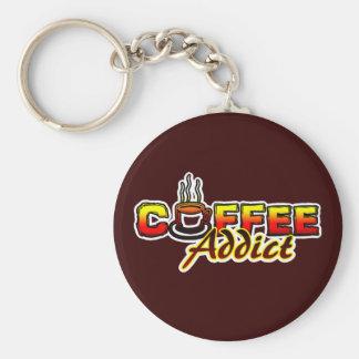 Adicto al café llaveros personalizados