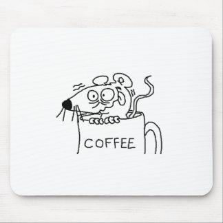 adicto al café tapete de ratones