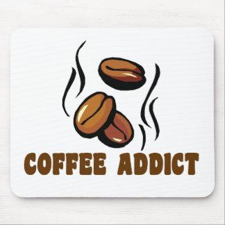 Adicto al café alfombrillas de raton