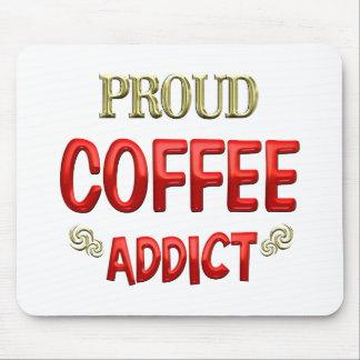 Adicto al café alfombrillas de ratones