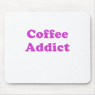 Adicto al café alfombrillas de ratón