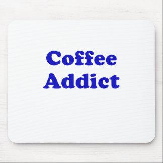 Adicto al café tapete de ratón