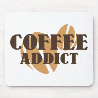 Adicto al café tapete de raton