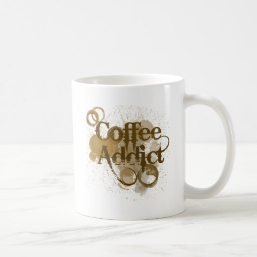 Adicto al café taza