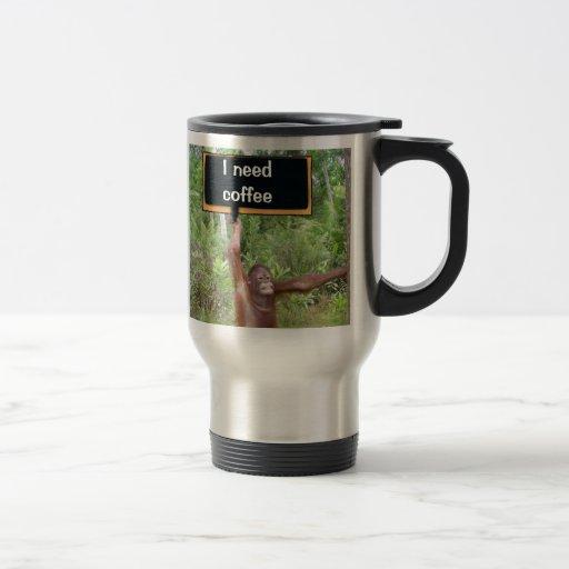 Adicto al café taza de viaje de acero inoxidable
