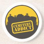 Adicto al cementerio posavasos para bebidas