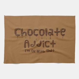 Adicto al chocolate toallas de mano