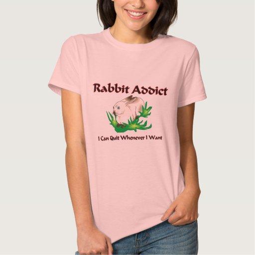 Adicto al conejo playera