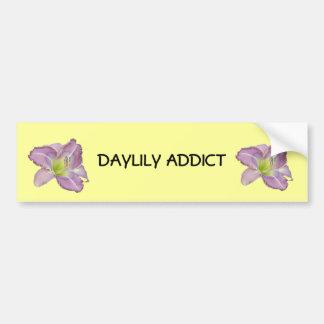 Adicto al Daylily Pegatina Para Auto