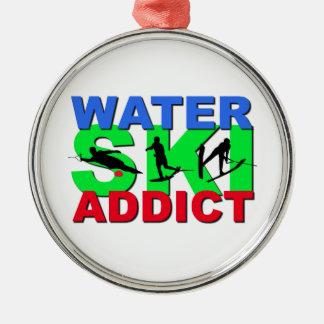 Adicto al esquí acuático ornamento para arbol de navidad