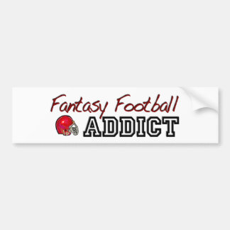Adicto al fútbol de la fantasía pegatina para auto