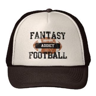 Adicto al fútbol de la fantasía gorros bordados