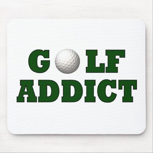 Adicto al golf alfombrillas de ratón