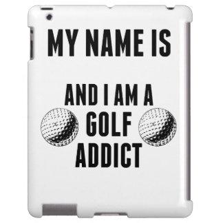 Adicto al golf funda para iPad