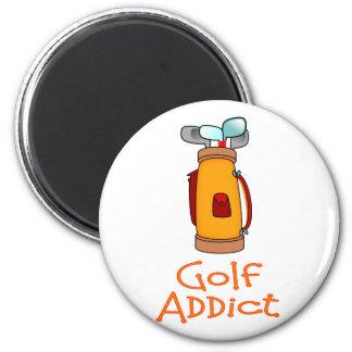Adicto al golf imanes de nevera