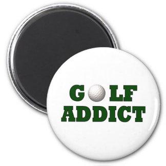Adicto al golf imán redondo 5 cm