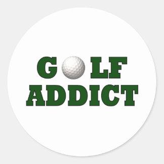 Adicto al golf pegatinas redondas