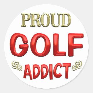 Adicto al golf etiqueta redonda