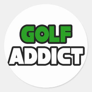 Adicto al golf pegatina