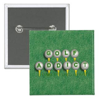 Adicto al golf pin cuadrado