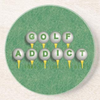 Adicto al golf posavasos personalizados