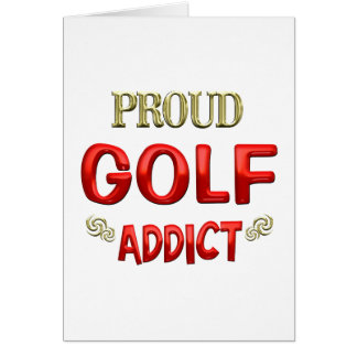 Adicto al golf tarjeta