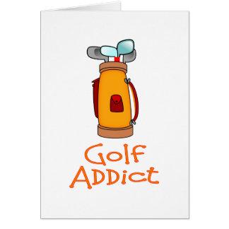 Adicto al golf tarjeta de felicitación