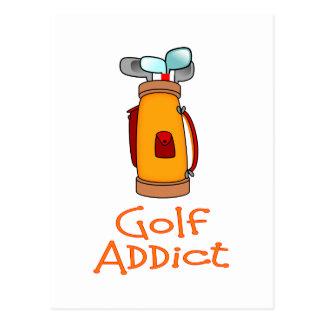 Adicto al golf postales
