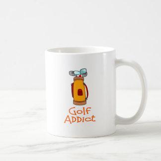 Adicto al golf taza de café