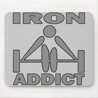 Adicto al hierro tapetes de ratones