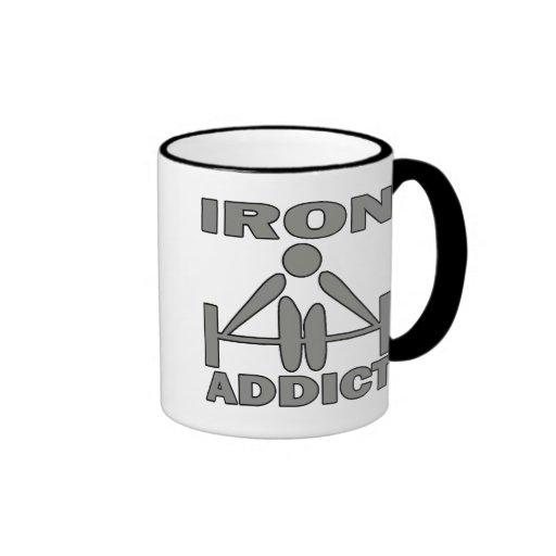 Adicto al hierro tazas