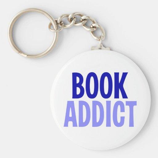 Adicto al libro llavero personalizado