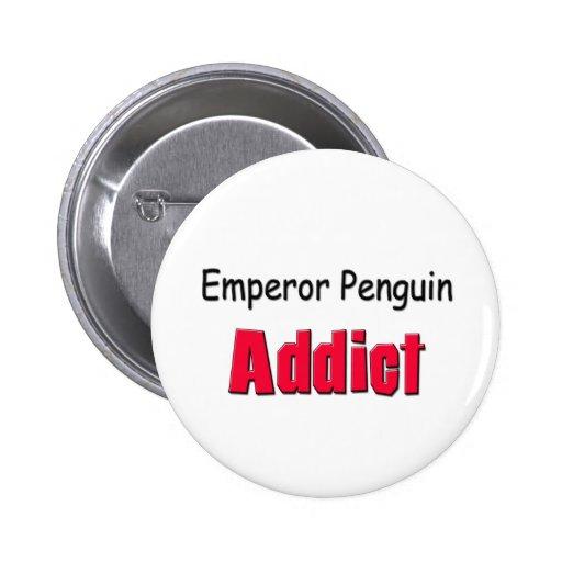 Adicto al pingüino de emperador pin
