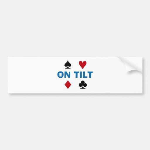 Adicto al póker etiqueta de parachoque