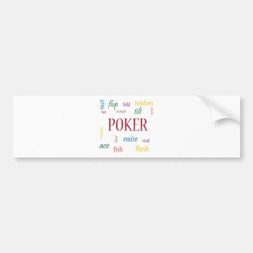 Adicto al póker pegatina de parachoque