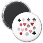 Adicto al póker imanes para frigoríficos