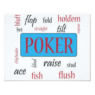"""Adicto al póker invitación 4.25"""" x 5.5"""""""