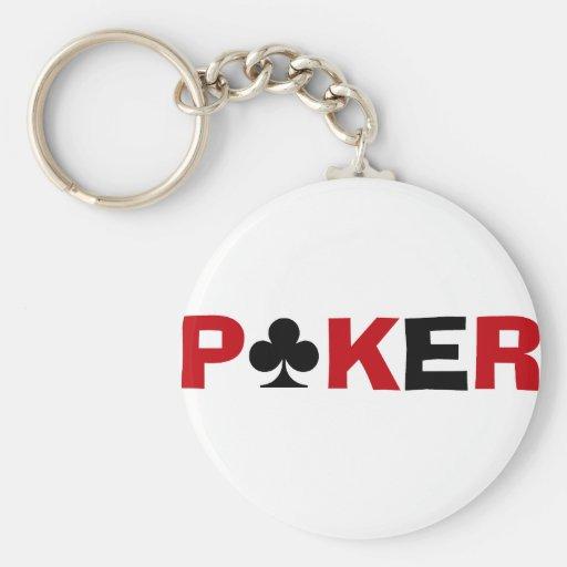 Adicto al póker llaveros personalizados