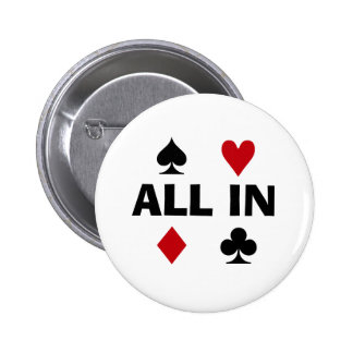Adicto al póker pin redondo 5 cm