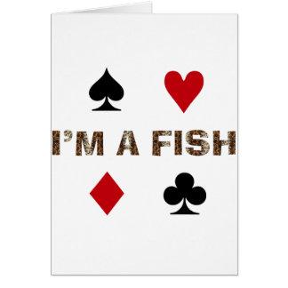 Adicto al póker tarjeta de felicitación