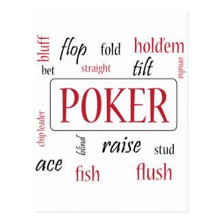 Adicto al póker postales