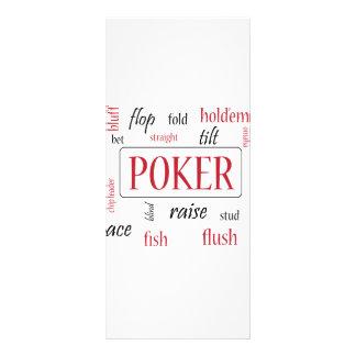 Adicto al póker tarjeta publicitaria