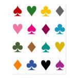 Adicto al póker tarjetas postales