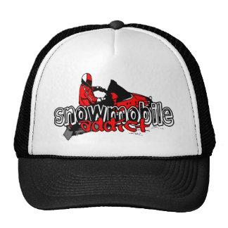 Adicto al Snowmobile Gorros Bordados