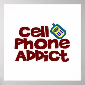 Adicto al teléfono celular póster